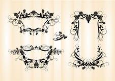 Flower frames _2. Flower frames in retro-style Stock Image
