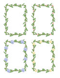Flower frames Royalty Free Stock Image