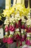 Flower fresh worship rose rope string stall sell concept Stock Image
