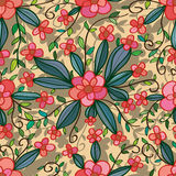 Flower friend seamless pattern Royalty Free Stock Images