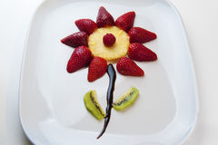 A flower fruit. A flower made ​​with fruits and chocolate Stock Photo