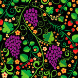 Flower and fruit pattern Royalty Free Stock Images
