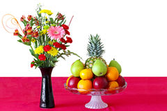 Flower and Fruits Stock Images
