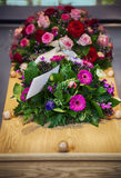 Flower  for funeral. Flower arrangement  for funeral ( cremation Royalty Free Stock Photo