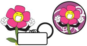 Flower funny cartoon expression copyspace4 Royalty Free Stock Images