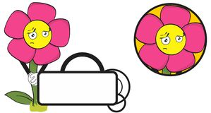 Flower funny cartoon expression copyspace8 Stock Photo
