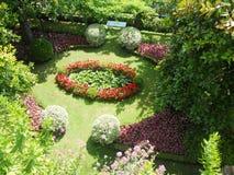Flower garden. Panoramic view of a garden in the city of Ravello Stock Photos