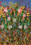 Flower Garden. Art abstract colorful painted Stock Photos