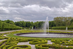 Flower garden in Augustusburg Palace, Bruhl, Germany Stock Image