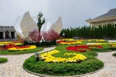 Flower garden at Ba Na Hills, Da Nang, Vietnam Royalty Free Stock Photography