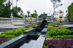 Flower garden at Ba Na Hills, Da Nang, Vietnam Royalty Free Stock Image
