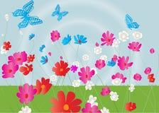 Flower garden background Stock Photography