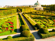 Flower Garden with baroque rotunda in Kromeriz Stock Photography