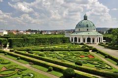 Flower garden. Beautiful flower garden in Kromeriz - Czech Republic Royalty Free Stock Image