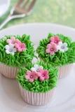 Flower garden cakes Stock Photography