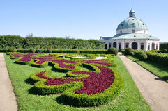Flower Garden in Chateau Kromeriz Stock Image