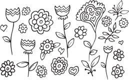 Flower Garden Doodle Vector Stock Photo