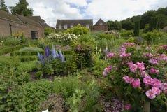 Flower garden in Europe Stock Photos