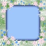 Flower garden frame Royalty Free Stock Images