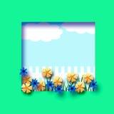 Flower garden frame Stock Photos