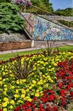 Flower Garden in Hardwicke Circus, Carlisle Stock Images
