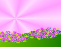 Flower Garden Illustration Royalty Free Stock Photography