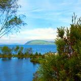 Flower garden island Norway Royalty Free Stock Photo