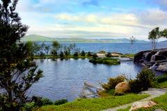 Flower garden island Norway Royalty Free Stock Image
