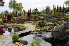 Flower garden island Stock Image