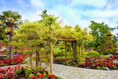 Flower garden island Stock Photo