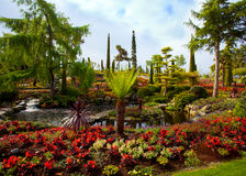 Flower garden island Royalty Free Stock Photography