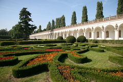 Flower garden, Kromeriz Stock Photos