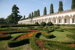 Flower garden, Kromeriz. Czech Republic Stock Photos