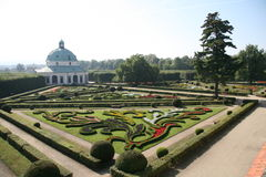 Flower garden, Kromeriz Stock Images