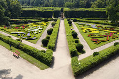 Flower garden in Kromeriz Royalty Free Stock Photo