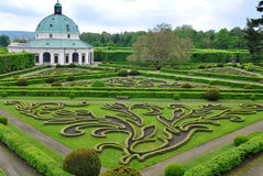 Flower garden in Kromeriz,Czech rep. Stock Images