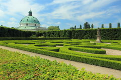 Flower garden in Kromeriz Royalty Free Stock Image