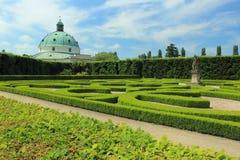 Flower garden in Kromeriz Royalty Free Stock Image