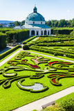 Flower garden of Kromeriz Stock Photo