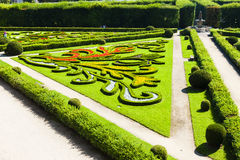 Flower garden of Kromeriz Palace Stock Photo