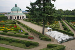 Flower Garden in Kromeriz Royalty Free Stock Photos