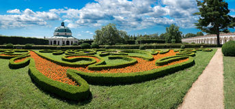 Flower Garden in Kromeriz Stock Photos