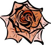 Flower garden like a rose. Sketch of a flower garden like a rose Stock Images