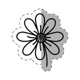 Flower garden natural monochrome. Illustration eps 10 Stock Photo