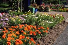 Flower garden in New Jersey park Stock Photo