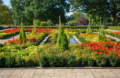 Flower Garden with Paths Royalty Free Stock Images
