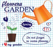 Flower garden poster Stock Photography