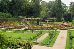 Flower garden in Sanssouci Park, Potsdam, Germany Royalty Free Stock Image