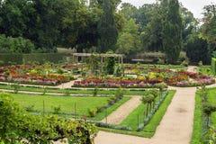 Flower garden in Sanssouci Park, Potsdam, Germany Royalty Free Stock Image
