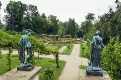 Flower garden in Sanssouci Park, Potsdam, Germany Stock Photography